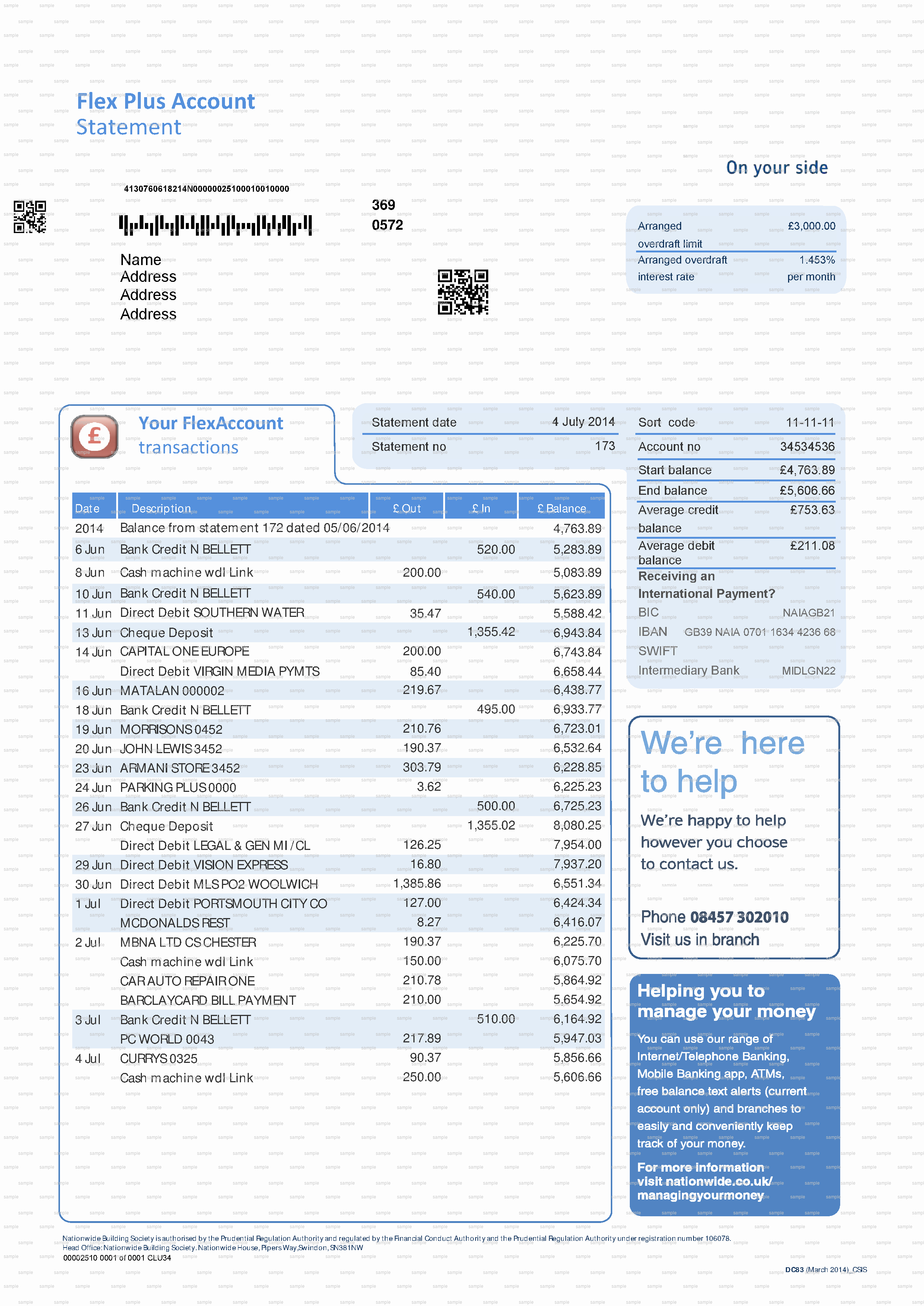 Us Bank Statement Template New Bank Statement Template Doc