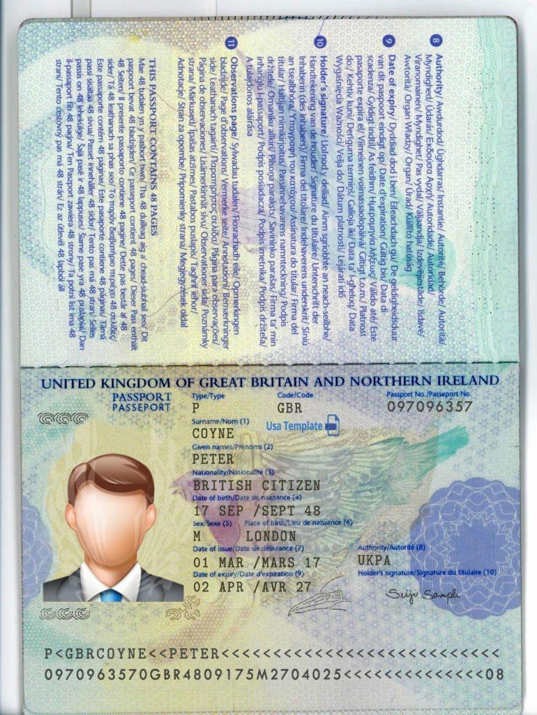 Us Passport Template Psd Best Of Uk Passport Template Usa Template Psd