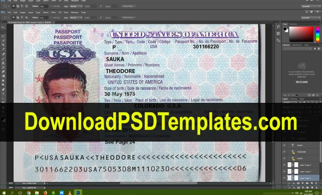 Us Passport Template Psd Best Of Usa Passport Psd Template [download Editable source File]