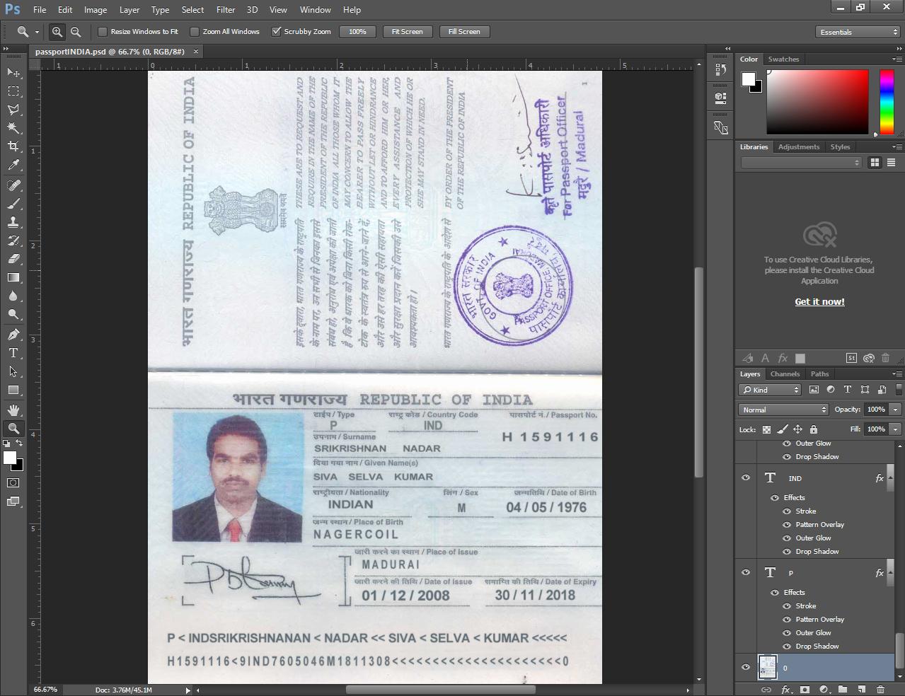 Us Passport Template Psd Elegant Indian Passport Psd Template