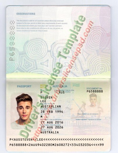 Us Passport Template Psd Fresh Drivers License Fake Drivers License Drivers License