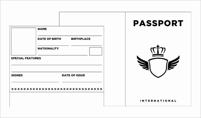 Us Passport Template Psd Lovely Passport Template