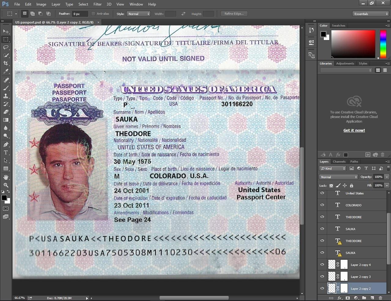Us Passport Template Psd Lovely Usa Passport Psd Template Passport Pinterest