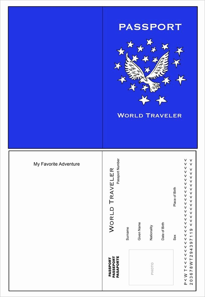 Us Passport Template Psd New Best 25 Passport Template Ideas On Pinterest