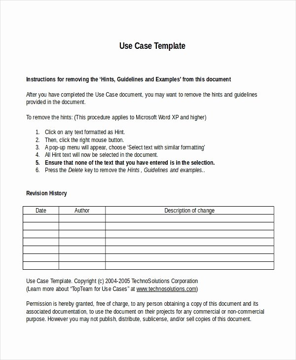 Use Case Document Template Beautiful 10 Business Case Templates Free Sample Example format