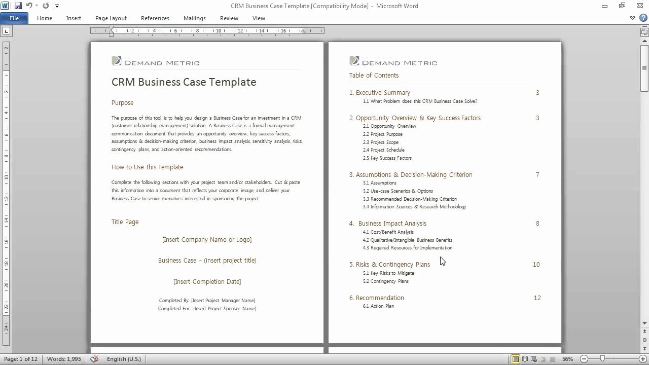 Use Case Documentation Template Elegant Crm Business Case Template A formal Munications