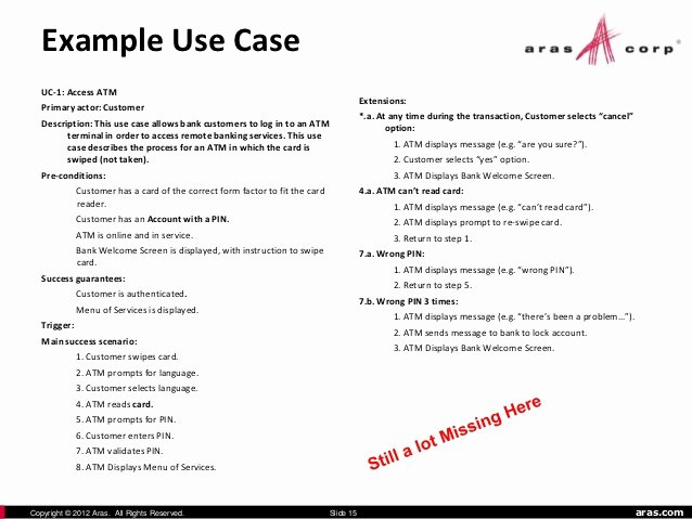 Use Case Documentation Template Elegant Use Case Document