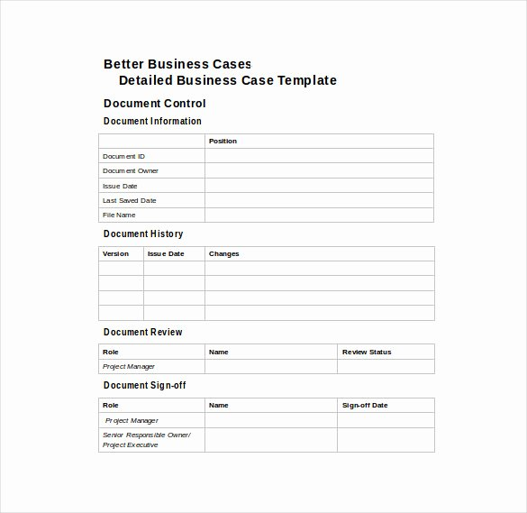 Use Case Documentation Template Luxury 12 Business Case Templates – Free Sample Example format