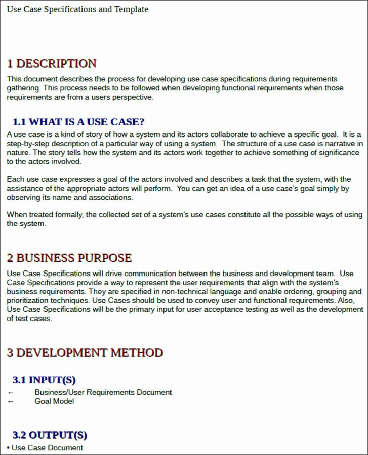Use Case Template Examples Luxury 7 Use Case Templates Free Ppt Excel Doc Example formats