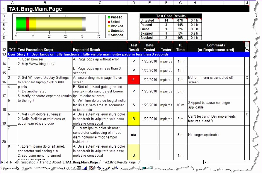 Use Case Template Excel Beautiful 8 Test Script Template Excel Exceltemplates Exceltemplates