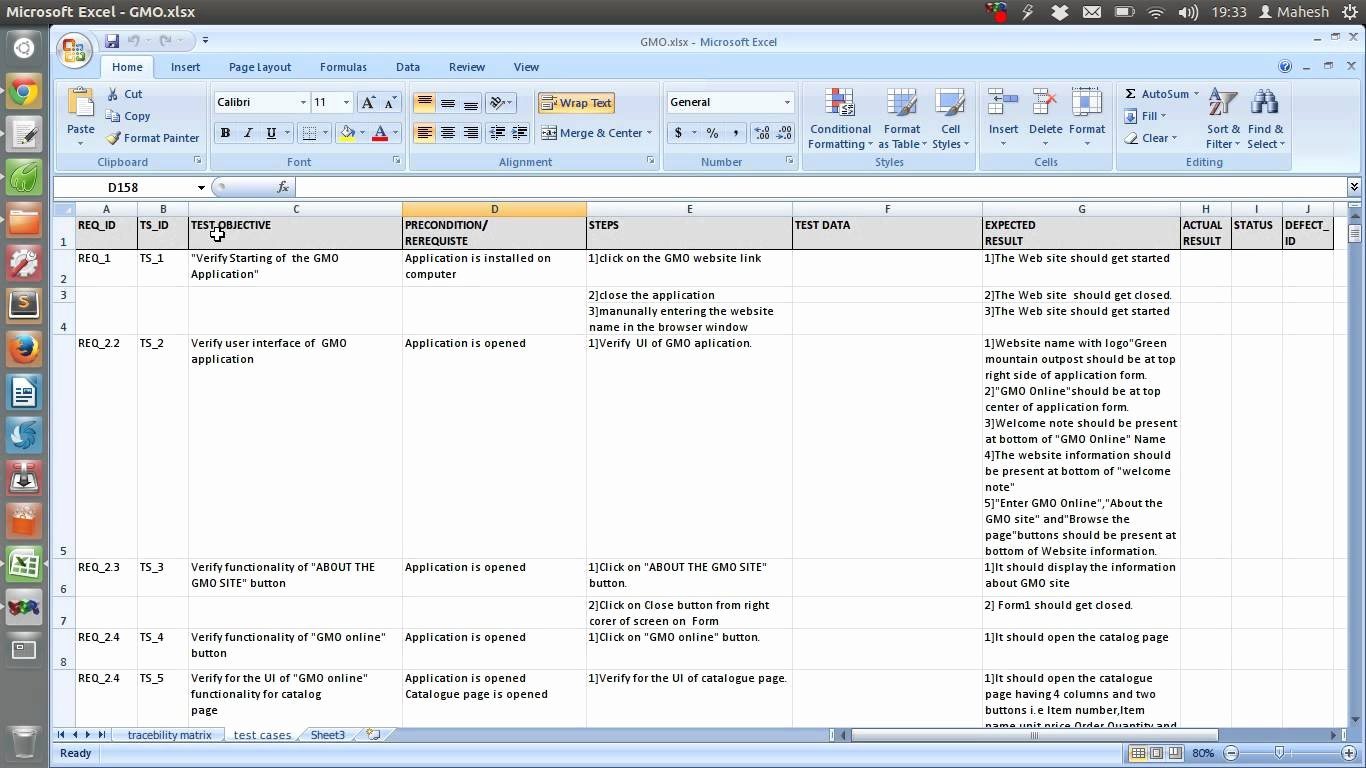 Use Case Template Excel Beautiful Test Case Template