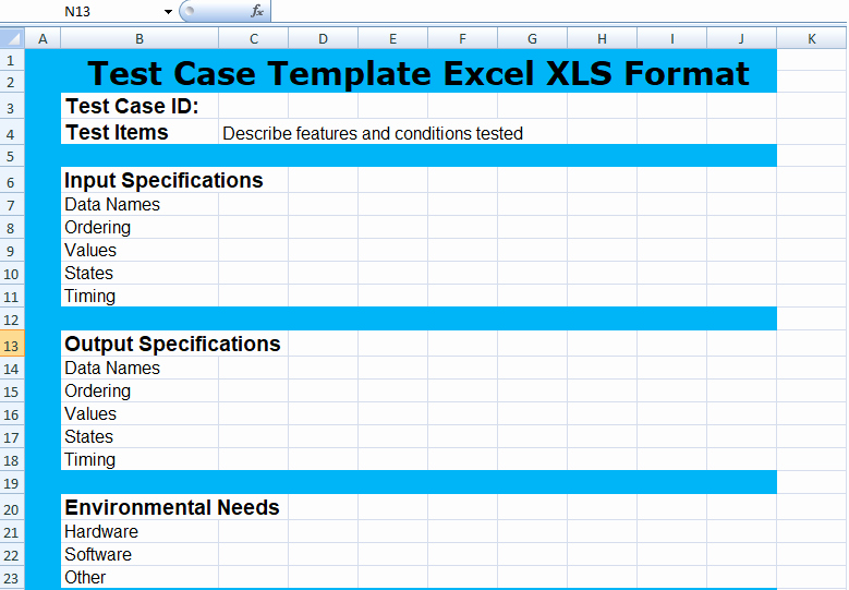 Use Case Template Excel Elegant Pin Test Case Template Excel On Pinterest
