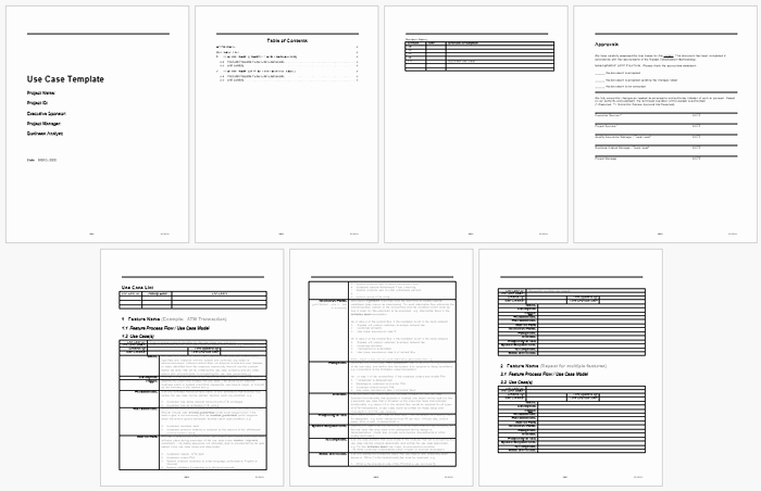Use Case Template Word Fresh Best Use Case Templates and Examples to Write Your Own Use