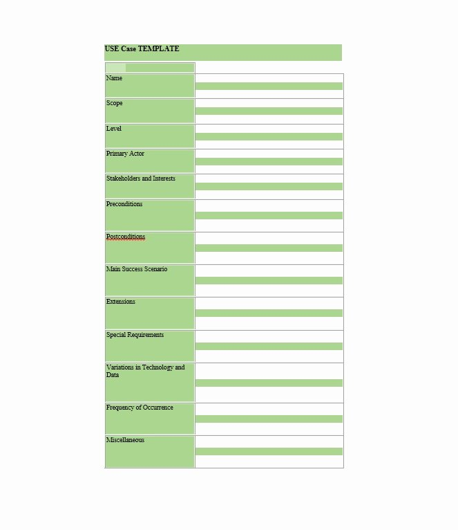 Use Case Template Word New 40 Use Case Templates & Examples Word Pdf Template Lab