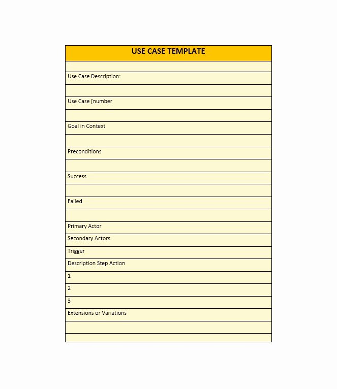 Use Case Template Word Unique 40 Use Case Templates & Examples Word Pdf Template Lab