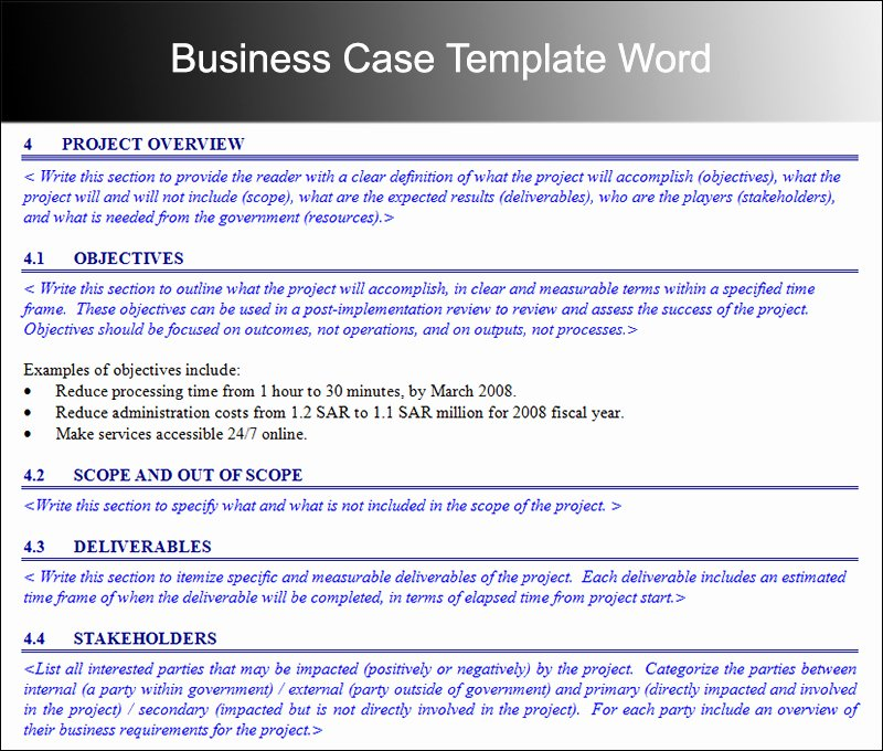 Use Case Template Word Unique Business Case Template