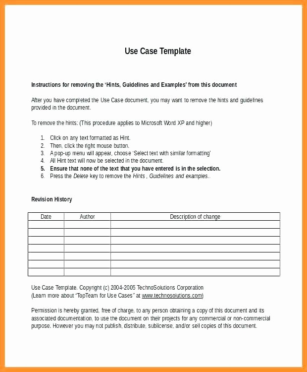 Use Cases Document Template Beautiful Printable Use Case Template What is A Document 962d Pdf