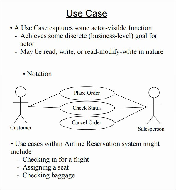 Use Cases Document Template Fresh Sample Use Case 6 Documents In Word Pdf