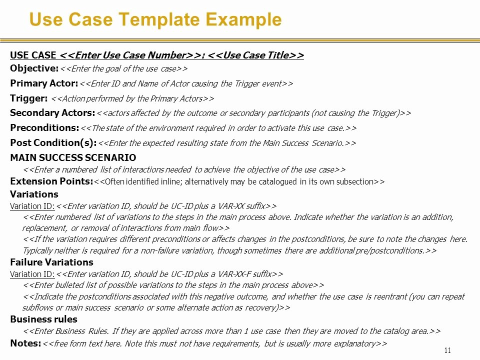 Use Cases Document Template Lovely Requirements Specification with Use Cases Ppt