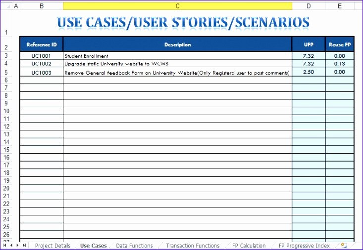 Use Cases Template Excel Unique 10 Use Case Template Excel Exceltemplates Exceltemplates