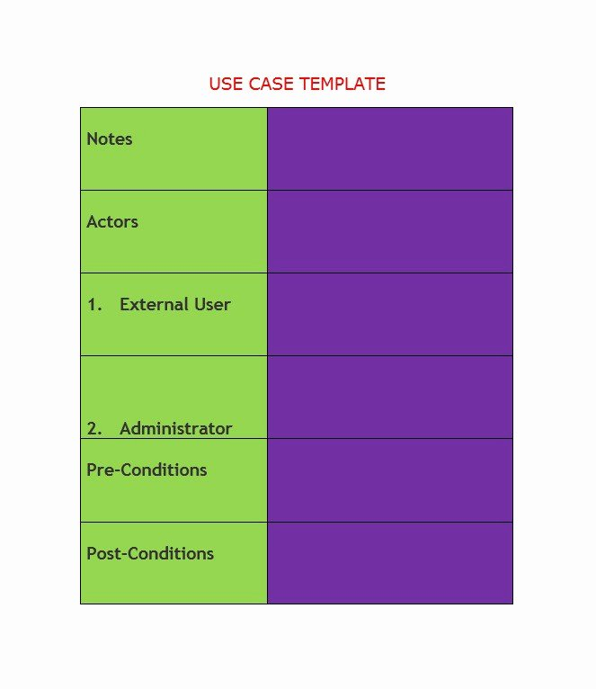 Use Cases Template Word Unique 43 Free Use Case Templates & Examples Word Pdf Free