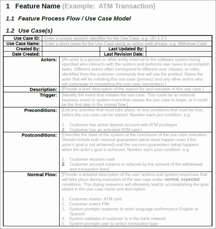 Use Cases Template Word Unique 7 Use Case Templates Free Ppt Excel Doc Example formats