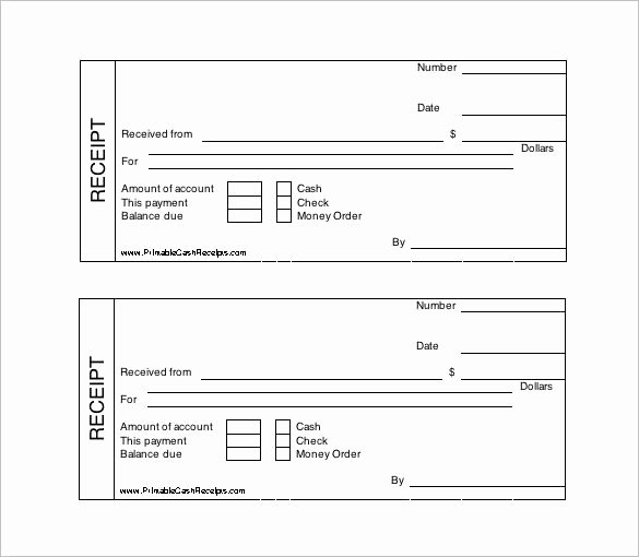 Use Of Funds Template Awesome Printable Cash Receipt Template Free Receipt Template
