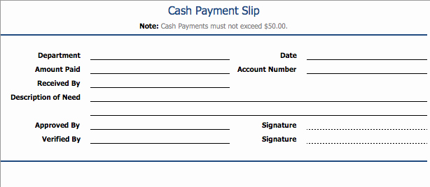 Use Of Funds Template New Payment Slip Template format Example