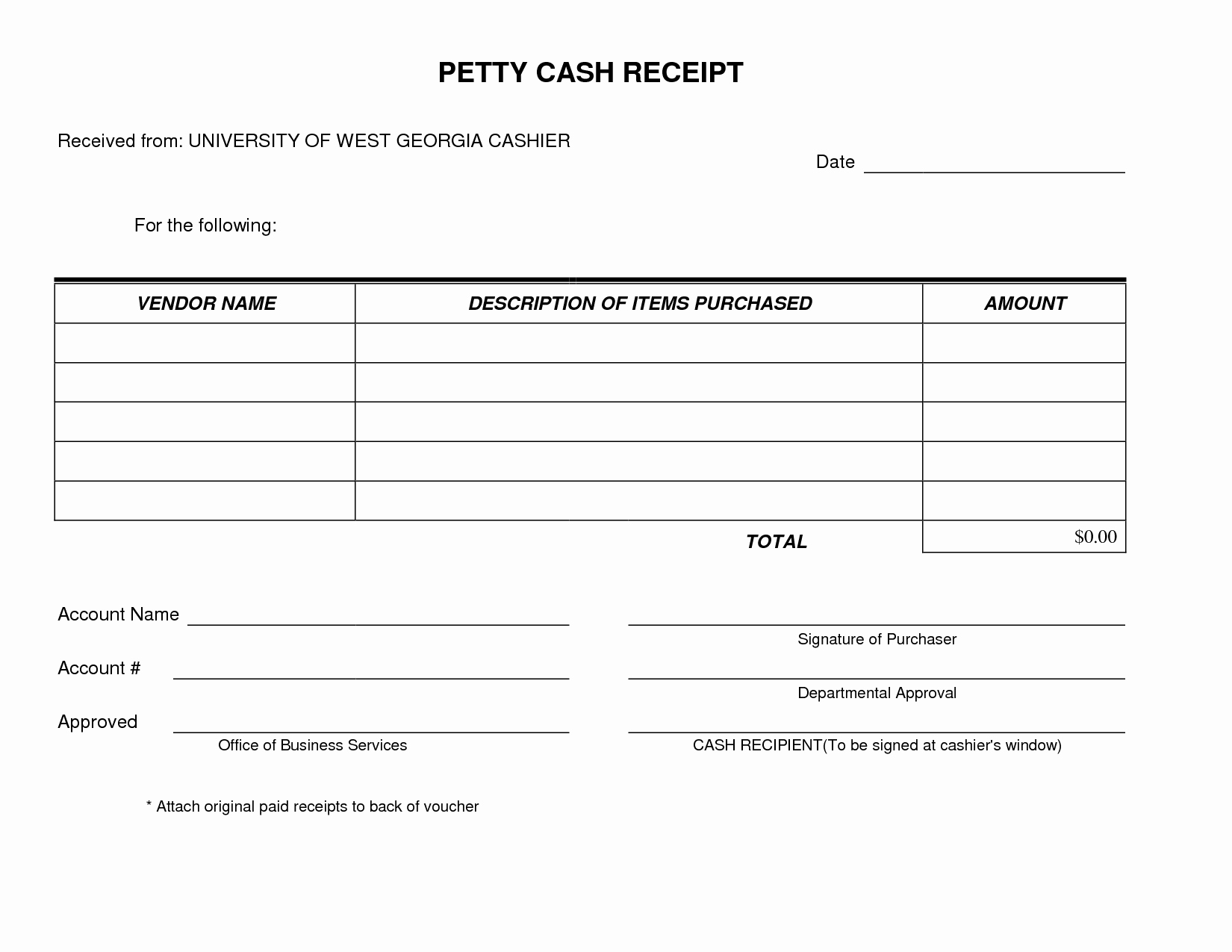 Use Of Funds Template Unique Petty Cash Receipt form Template Very Simple and Easy to