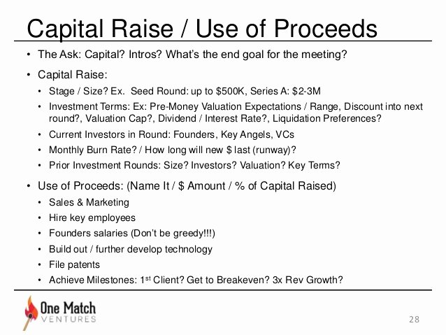 Use Of Funds Template Unique the Best Startup Pitchdeck [updated]