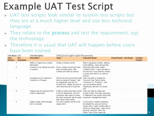 User Acceptance Test Template Awesome User Acceptance Testing Template Free Download 20