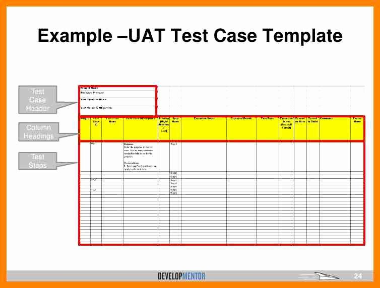 User Acceptance Test Template Beautiful Uat Testing Template Excel