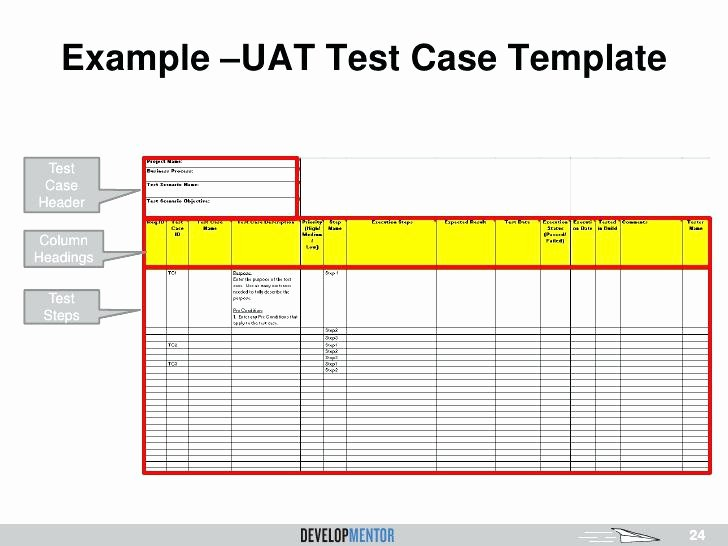 User Acceptance Test Template Elegant Free Excel Test Plan Template Case Sample format Document