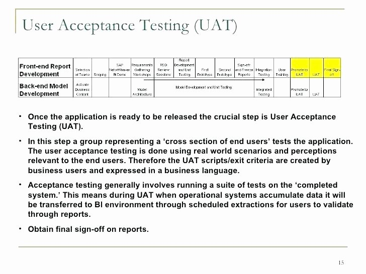 User Acceptance Test Template Fresh Acceptance Test Template User Acceptance Test Template