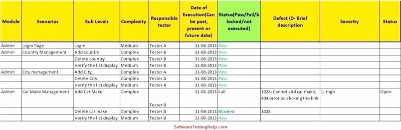 User Acceptance Testing Template Fresh User Acceptance Testing Excel Template