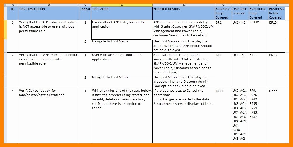 User Acceptance Testing Template Inspirational Uat Testing Template Excel