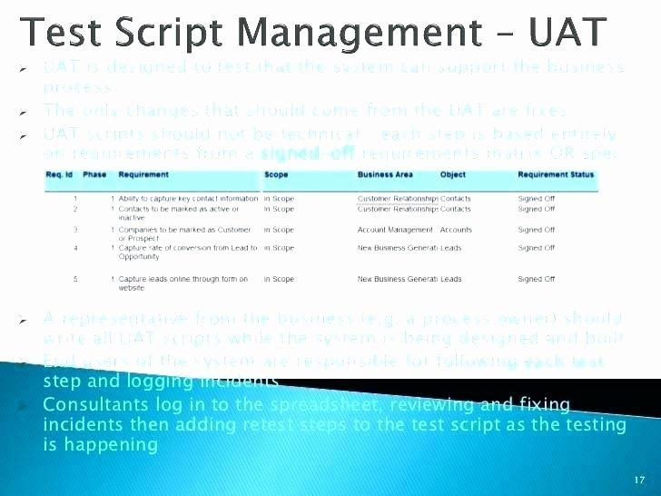 User Acceptance Testing Template Unique User Acceptance Testing Agenda Template New Era