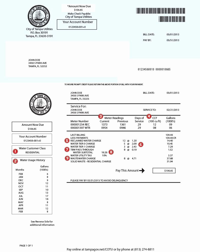 Utility Bill Template Pdf Awesome Example Utility Bill