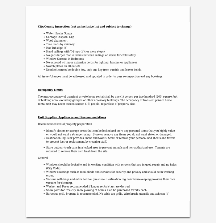 Vacation Rental Checklist Template Best Of Vacation Packing List Template 21 Checklists for Word