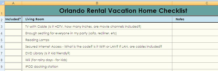 Vacation Rental Checklist Template Elegant Vacation Rental Home Checklist