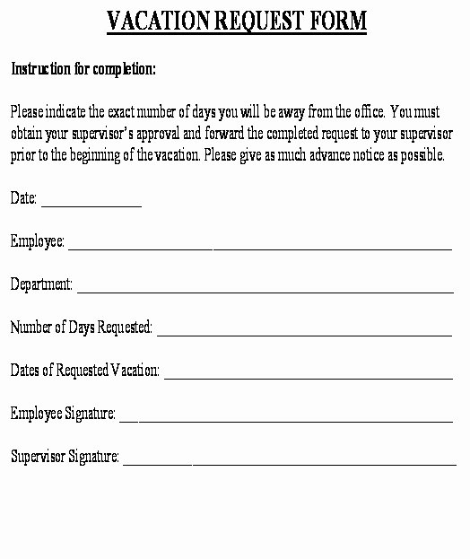 Vacation Request form Template Best Of 29 Of Holiday Preference Request form Template