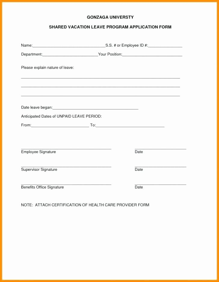 Vacation Request form Template Elegant Employee Vacation Request form Time F Leave Template for