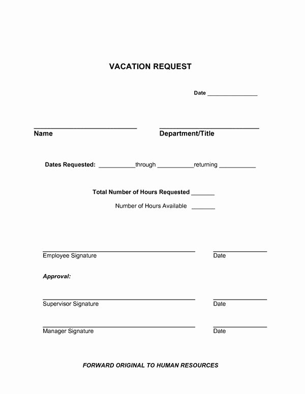 Vacation Request form Template Luxury formal Letters for Leave Application People Often Write