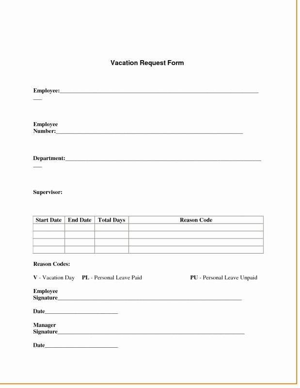 Vacation Request form Template New 2016 Vacation Request form with Calendar Free Calendar