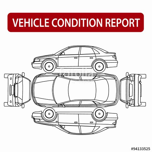 """Vehicle Condition Report Template Luxury """"car Condition Report Vehicle Checklist Auto Damage"""