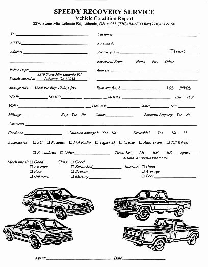 Vehicle Condition Report Template Luxury Vehicle Condition Report form Template – Radiofama
