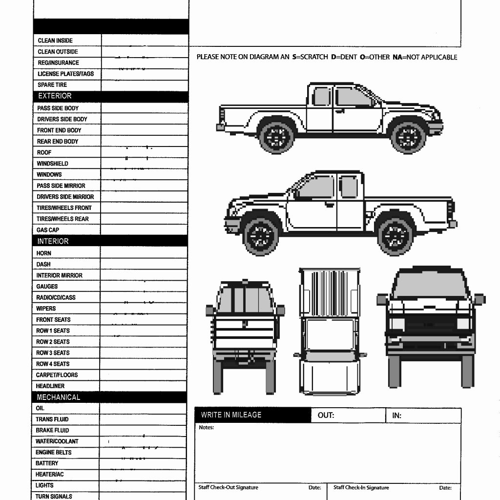 Vehicle Inspection form Template Beautiful Vehicle Inspection Sheet Template Stalinsektionen Docs