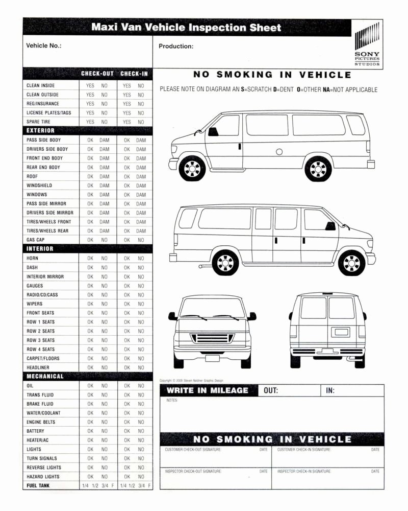 Vehicle Inspection form Template Inspirational Vehicle Inspection form Template