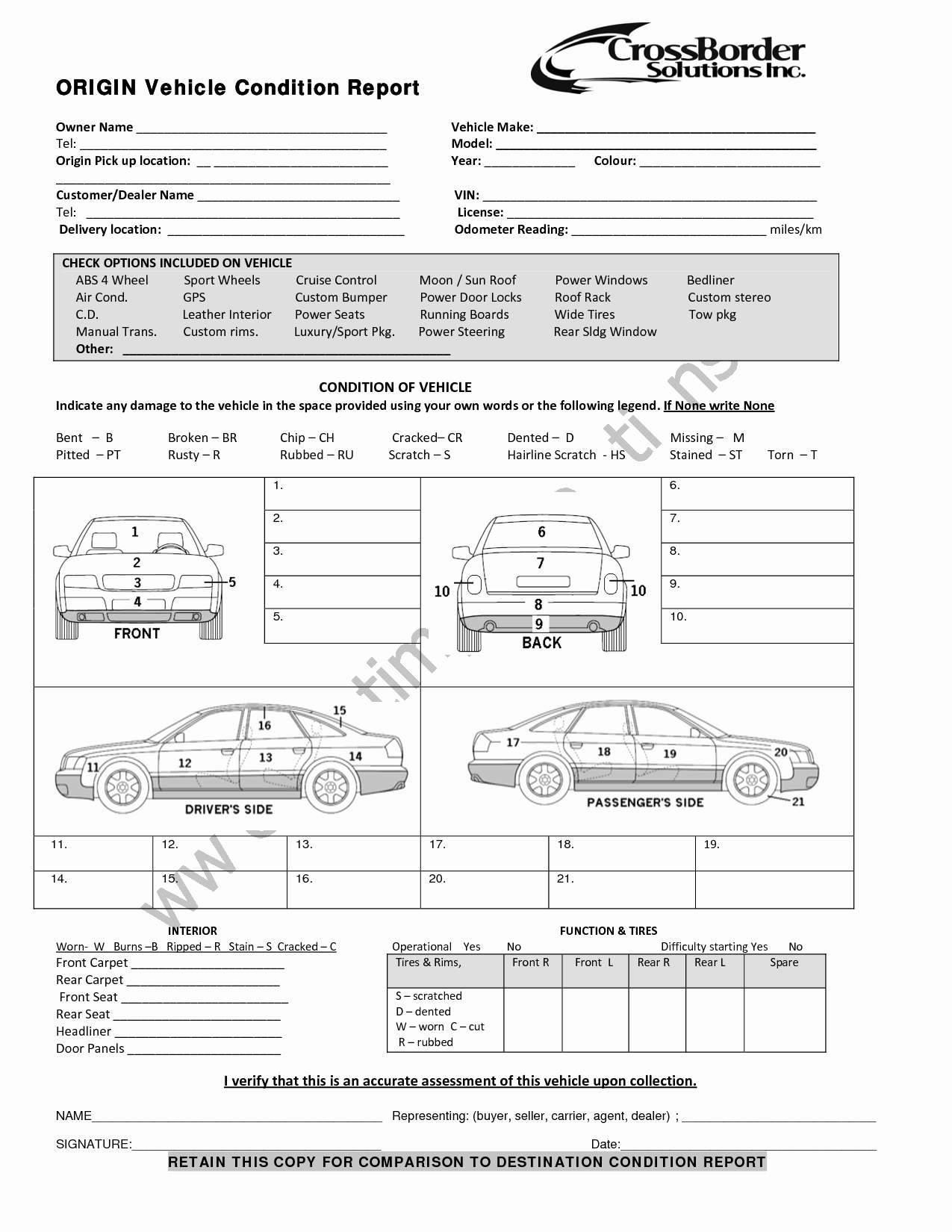 Vehicle Inspection Report Template Best Of Vehicle Condition Report Templates Word Excel Samples