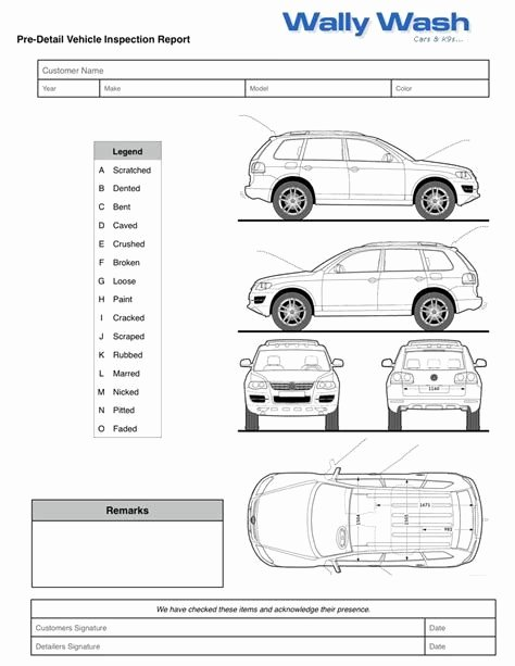 Vehicle Inspection Sheet Template Awesome Vehicle Damage Inspection form why You Should Not Go to